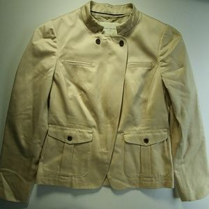 Banana Republic kakhi jacket military size 6